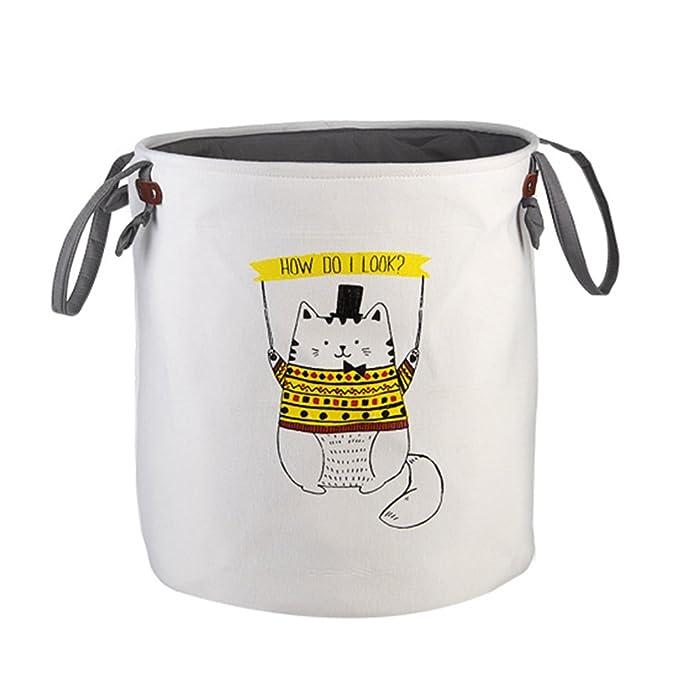 4 opinioni per Houda- Cesto portabiancheria pieghevole, contenitore portaoggetti / cesto per