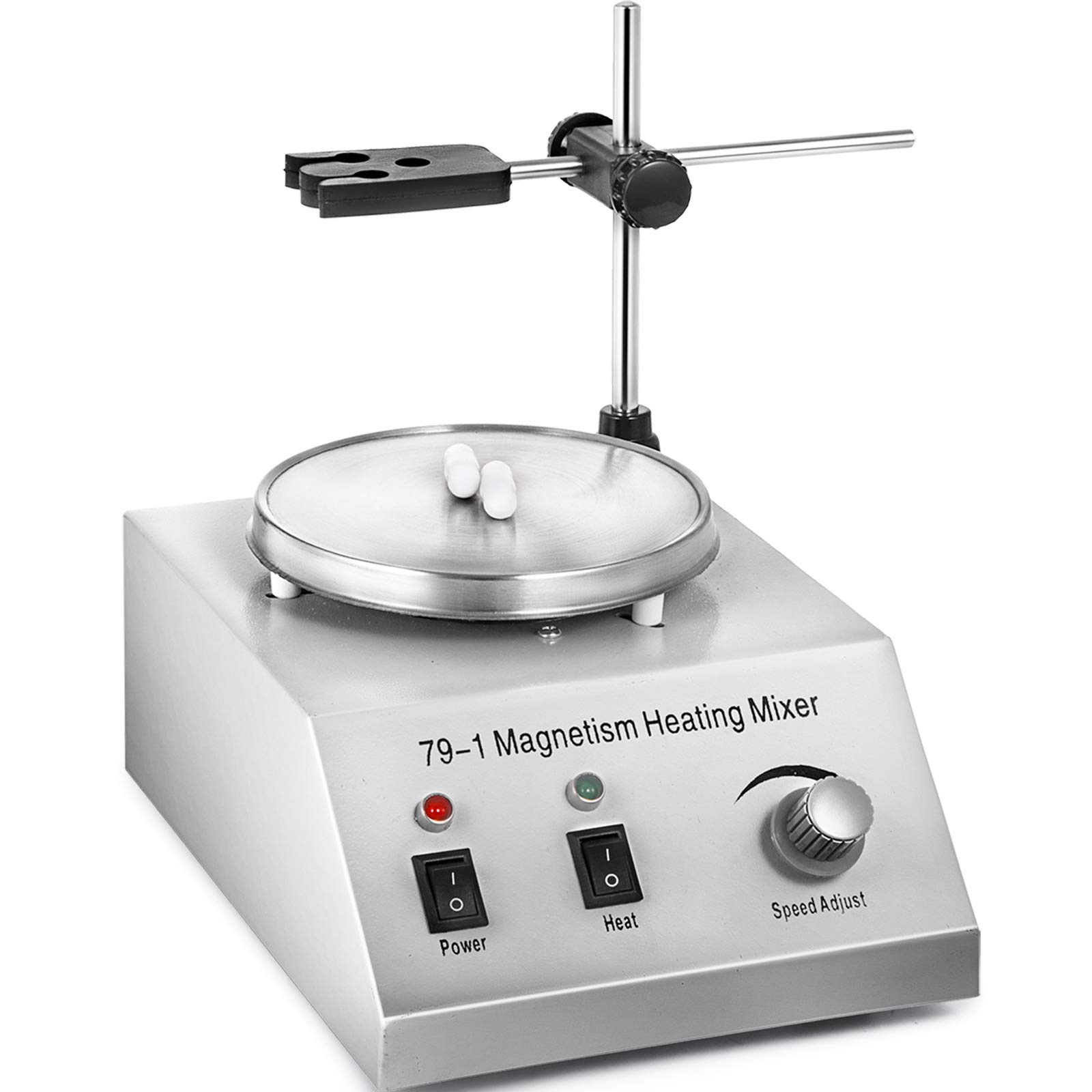 Happybuy 79-1Magnetic Stirrer 150W 1000ML Lab Magnetic Mixer and Hotplate 0-1600 RPM Adjustable Magnetic Stirrer Mixer with Stirring Bar