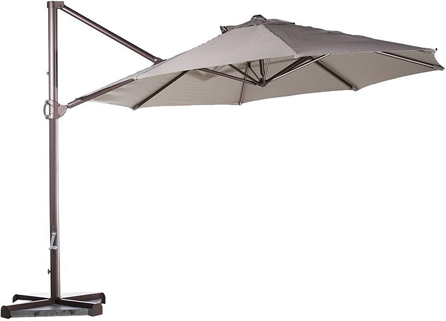 """Formosa Covers Replacement Umbrella Canopy for 11ft 8 Rib Supported bar Cantilever Market Outdoor Patio Shades in Taupe Ribs Length 64"""" to 66"""" (Canopy Only)"""
