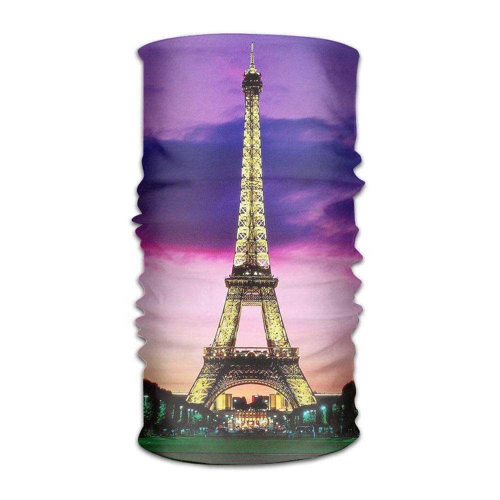 Owen Pullman Multifunctional Headwear Paris Tower At Night Head Wrap Elastic Turban Sport Headband Outdoor Sweatband