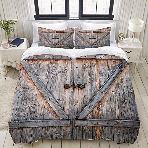 VANKINE 3PC Bedding Set American Country Style 1 Duvet Cover with 2 Matching Pillowcases Dorm Room Decor Twin/Twin XL