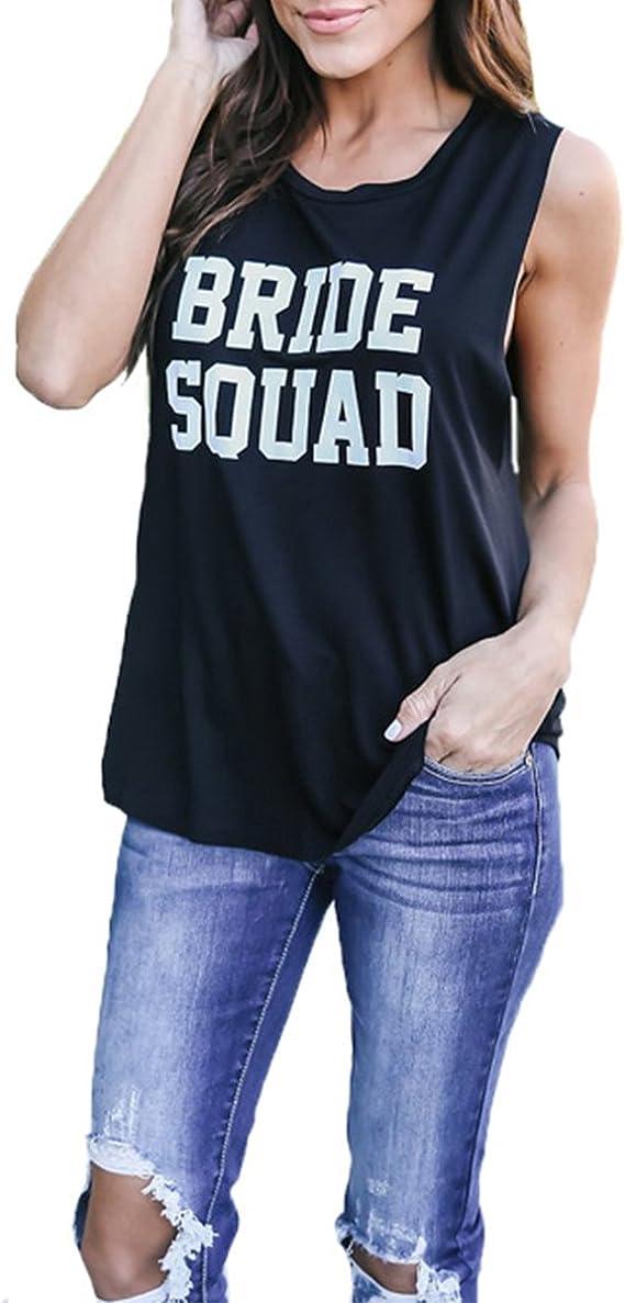 QYZLZDHWML T-Shirt Débardeur Femme Lettres