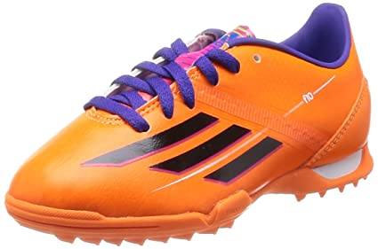 ADIDAS F10 TRX TF Football boots childrens shoes orange / black / blue, EU Shoe