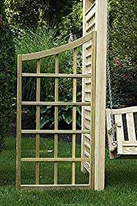 Pressure Treated Pine Outdoor Curved Trellis Panel For Arbors-Unfinished