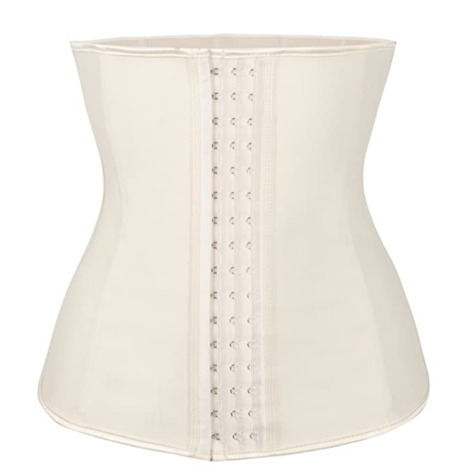 ac07ed5522f Image Unavailable. Image not available for. Color  FLORATA Sport Latex  Rubber Waist Trainer Cincher Underbust Corset Body Shaper Shapewear