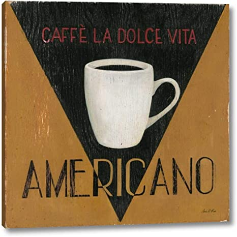 Amazon Com Caffe La Dolce Vita Americano By Arnie Fisk 38 X 38 Canvas Art Print Gallery Wrapped Ready To Hang Posters Prints