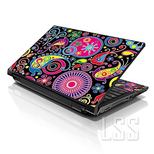 LSS 15 15.6 inch Laptop Notebook Skin Sticker Cover Art Decal Fits 13.3 14 15.6 16 HP Dell Lenovo Apple Asus Acer Compaq (Free 2 Wrist Pad Included) Art Design
