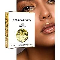 KARIZMA Holographic 24K Gold Glitter. 10g Chunky Face Glitter, Hair Glitter, Eye Glitter and Body Glitter for Women…