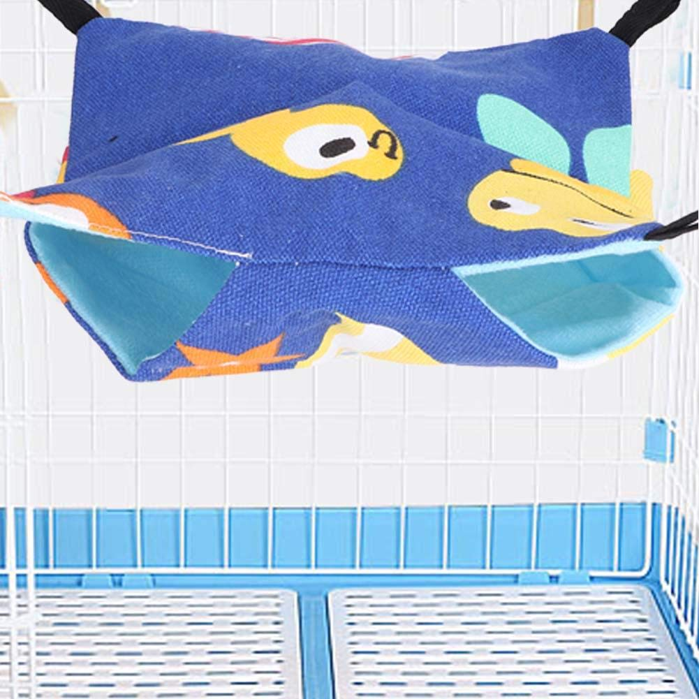 03 Pet Double Bunkbed Hanging Hammock Sleeper for Parrots Hamster Ferret Rats mice Small Animals