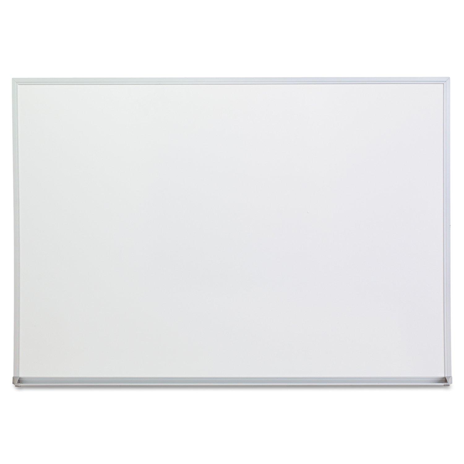 Universal 43624 Dry Erase Board, Melamine, 48 x 36, Satin-Finished Aluminum Frame
