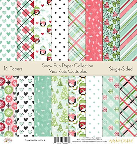 - Pattern Paper Pack - Snow Fun - Scrapbook Premium Specialty Paper Single-Sided 12