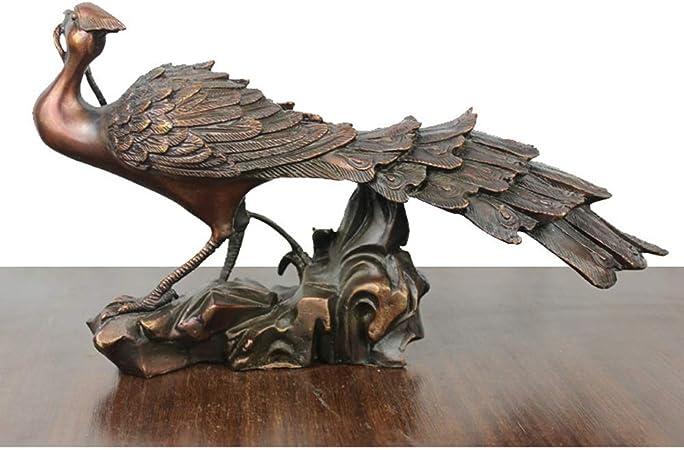 CZWYF Elegante Escultura de Metal de Peacock en el jardín/Estatua con Vista al jardín de The Peacock - Decoración Interior y Exterior / 10x3.2x5.9inches: Amazon.es: Hogar