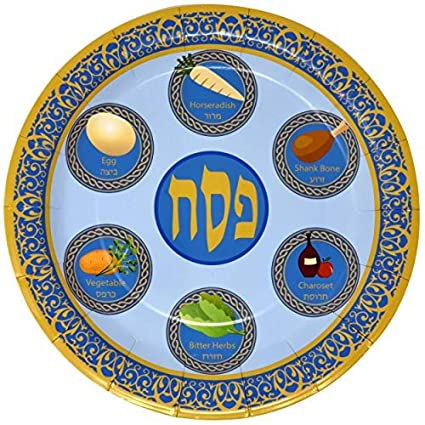 Amazon Com 48 9 Passover Plates For Pesach Plate Disposable Paper