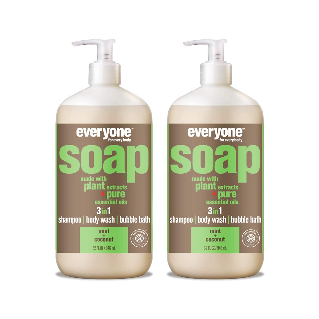 Everyone 3-in-1 Soap, Mint & Coconut, 32 Oz, 2Count