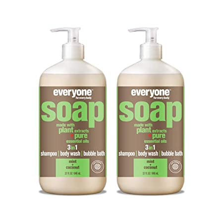 Everyone 3-in-1 soap, mint coconut, 32 oz, 2Count