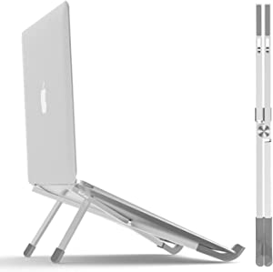BoYata Laptop Stand, Foldable Lightweight Laptop Riser Tablet Stand, Portable Ventilated Desktop Laptop Holder for MacBook Pro/Air, Notebook and Other 11-15.6inch Laptop PC or Tablet