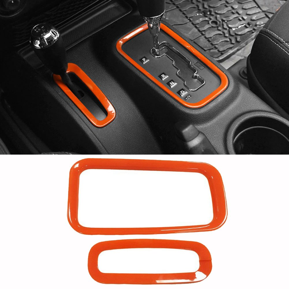 Purple E-cowlboy Inner Front and Rear Water Cup Holder Trim,Gear Box Trim and Transfer Case Trim 4 Pcs for Jeep Wrangler JK /& Unlimited 2//4 Door 2007-2016