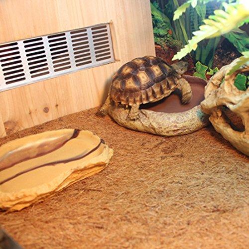 Ocamo 60x40CM Pet Natural Coconut Mat Reptile Box Breathable Bedding Line for Turtles, Reptilia and Small Animals by Ocamo (Image #6)