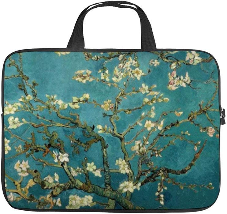 12 Inch Laptop Sleeve Almond Blossom Case/Water-Resistant Notebook Computer Pocket Tablet Briefcase Carrying Bag/Pouch Skin Cover for Acer/Asus/Dell/Lenovo