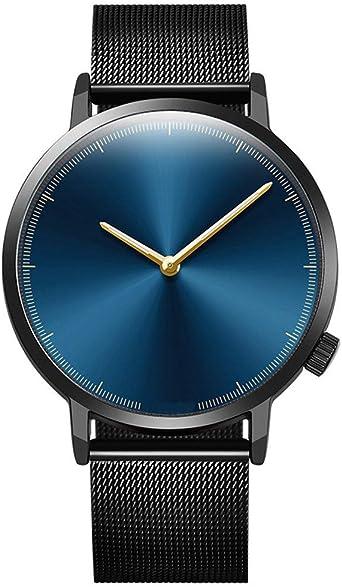 Relojes Hombre Mujer|Relojes CláSicos De Moda De Cuarzo Dorado Relojes Hombre Correa Acero Reloj para Hombres: Amazon.es: Relojes