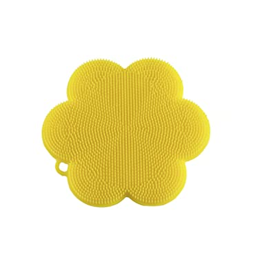 Kuhn Rikon 23023 Stay Clean Flower Silicone Scrubber, 4.5 , Yellow