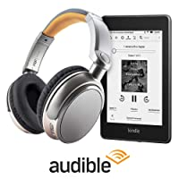 Deals on Amazon 6-in Kindle Paperwhite 8GB w/Headphone +3-Mo Audible Trial