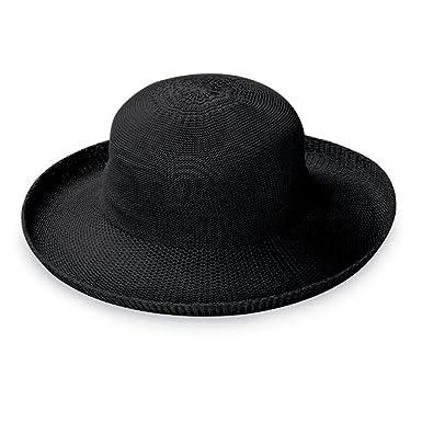757190df5e10c Wallaroo Hat Company Women s Petite Victoria Sun Hat - Perfect for Smaller  Heads - Black
