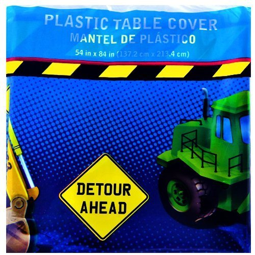(Construction Trucks Plastic Tablecover (1ct))
