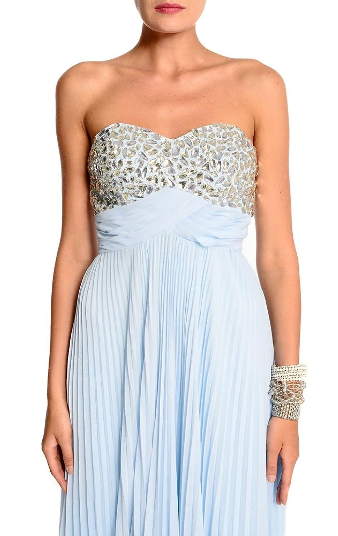 Amadeo Elegant Sweetheart Draped Chiffon Beading Empire Blue Evening Dresses LF057
