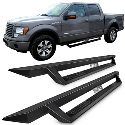 Ford F150 Crew Cab >> Amazon Com Running Boards Fits 2009 2014 Ford F150 Crew Cab Ikon