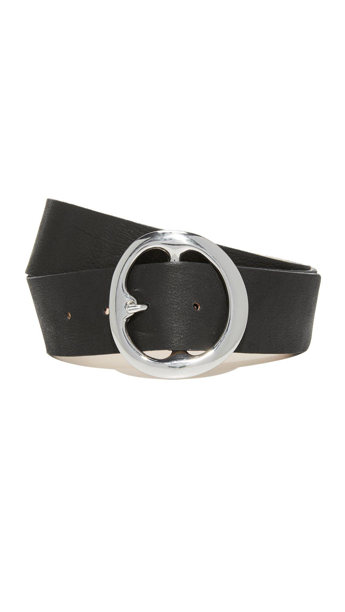 B-Low The Belt Women's Bell Bottom Belt, Black/Silver, Large by B-Low the Belt