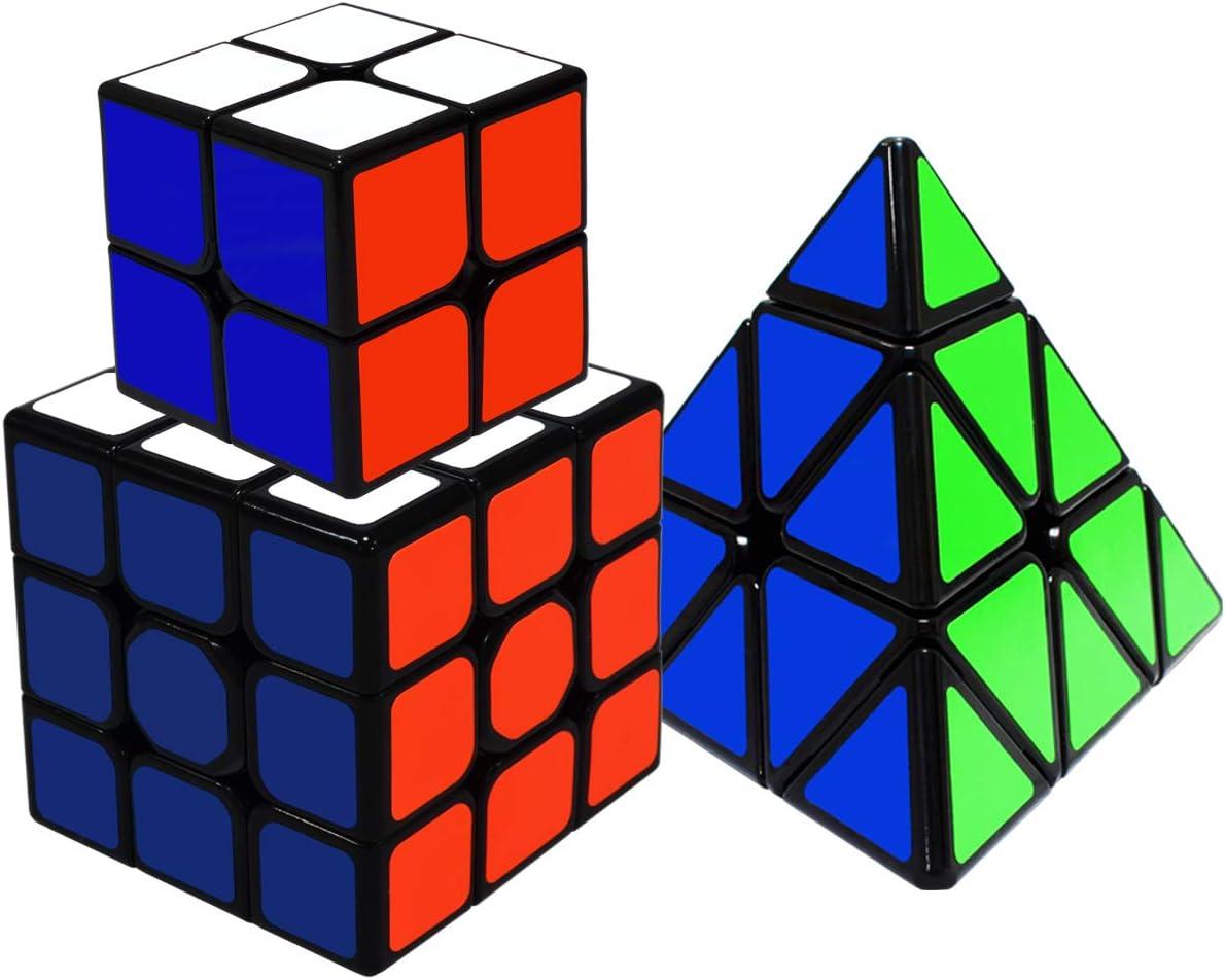 Maomaoyu Zauberw/ürfel Cube Set 3 St/ück,Speedcube 2x2 3x3 Pyraminx Zauberw/ürfeln