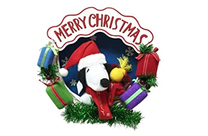 Snoopy And Woodstock Christmas Images.Amazon Com 14 Inch Merry Christmas Snoopy Woodstock Plush
