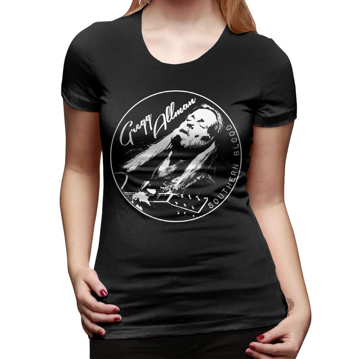 Gregg Allman T Shirt Casual O Neck Short Sleeve Tees Tops