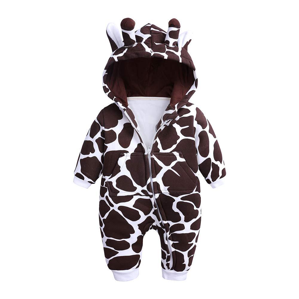 Kids Tales Baby Boys Girls 3D Giraffe Hooded Romper Infant Warm Onesies Costume by Kids Tales