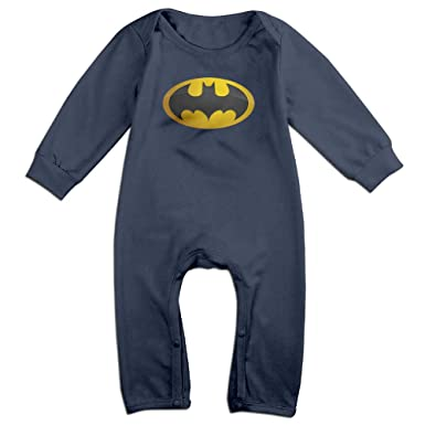 Batman Classic Logo Romper,6 24 Month Toddler Onesie,infant Bodysuit Long  Sleeve