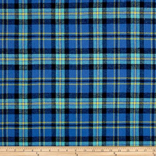 Newcastle Fabrics Yarn Dyed Flannel Carloto Blue Fabric by The Yard,
