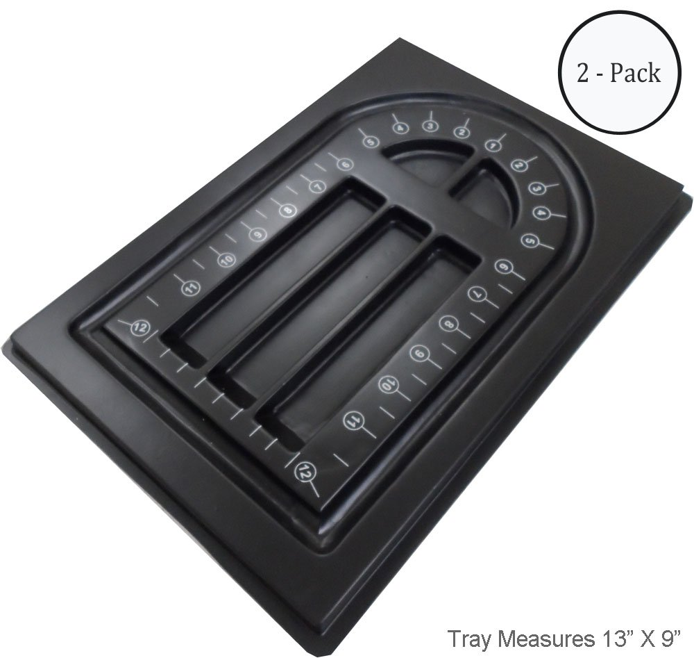 ToolUSA Black Beading Tray With Five Sorting Compartments: TJ-91731-Z02 : ( Pack of 2 Pcs ) BearTools