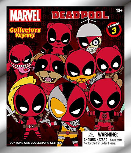 Marvel Figural Keyring - Deadpool - Mystery Pack (Series 3) | Collectible Superhero Toy Figure Keychains from The Movie | Key Chain Fun for The Whole Family - Men, Women & Kids Collectors Items