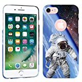 iPhone 7 Case / iPhone 8 Case - Astronaut Galaxy Pug Dog Hard Plastic Back Cover. Slim Profile Cute Printed Designer Snap on Case by Glisten