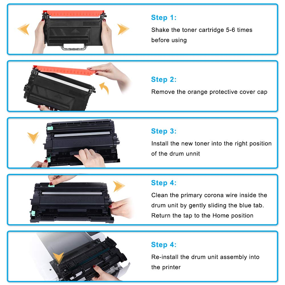 Cool Toner 4 Pack Compatible Toner TN423 TN-423 TN 423 TN-423BK TN-423C TN-423M TN-423Y pour Brother HL-L8260CDW HL-L8360CDW,Brother MFC-L8690CDW MFC-L8900CDW,Brother DCP-L8410CDW