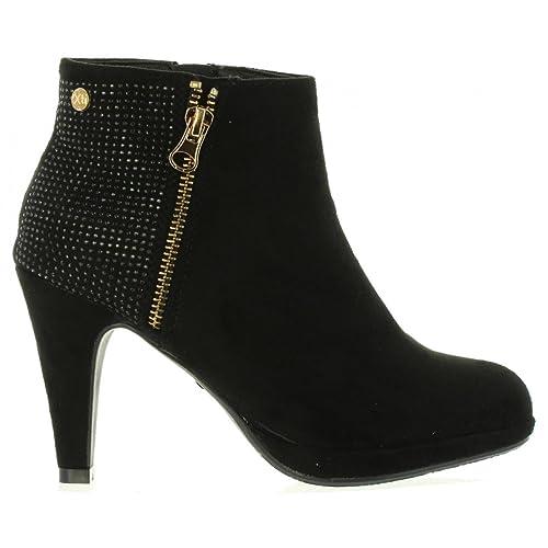 Xti Basics 033729 Botín De Mujer Xti Basics 033729 Textil Mujer Negro 40: Amazon.es: Zapatos y complementos