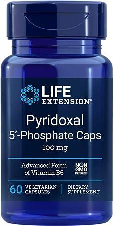 Life Extension Pyridoxal 5-Phosphate 100 Mg Vegetarian Capsules, 60-Count, packaging may vary