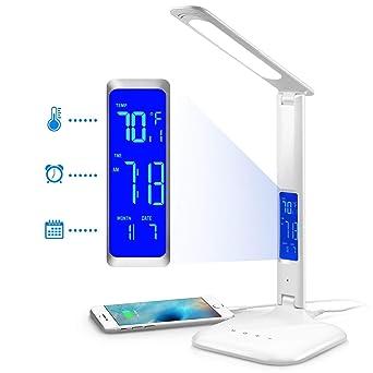 Schreibtisch-lampe LED Tischlampen Dimmbar Touch Nachttischlampe mit LCD-Display