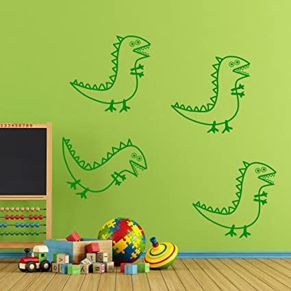 Peppa Pig Dino Saw Décorations Murales Fenêtre Autocollants Wall