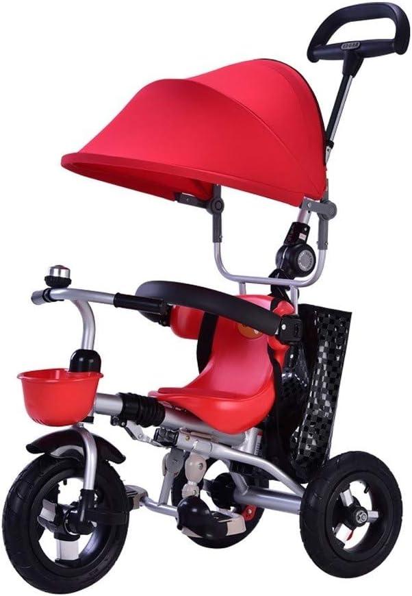 LEZDPP Sillas de Paseo Asiento Giratorio Desmontable Respaldo reclinable niños Hijos de Trike Triciclo Wning Adecuado for 6 Meses a 5 años de Edad los niños (Color : B)