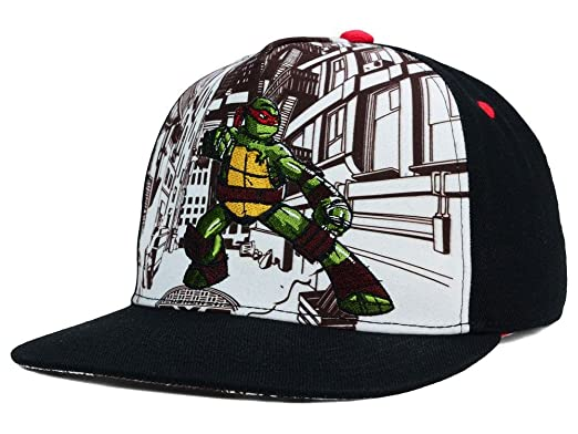 14b88aee09f Image Unavailable. Image not available for. Color  Teenage Mutant Ninja  Turtles Cityscape Snapback Hat