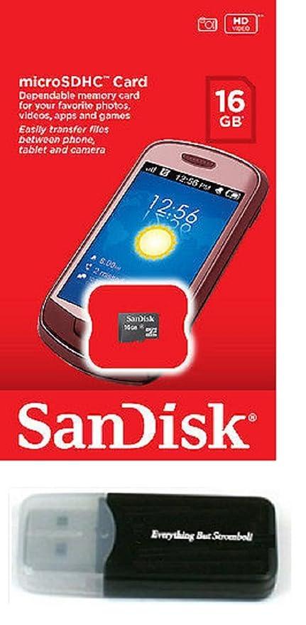SanDisk 16GB MicroSD Memory Card works with LG Lucid 3 L80 VOLT L35 G3 G PAD 7.0 8.0 10.1 Vista G3 S Cat 6 Stylus L20 L30 L50 Freedom II L Bello Fino ...