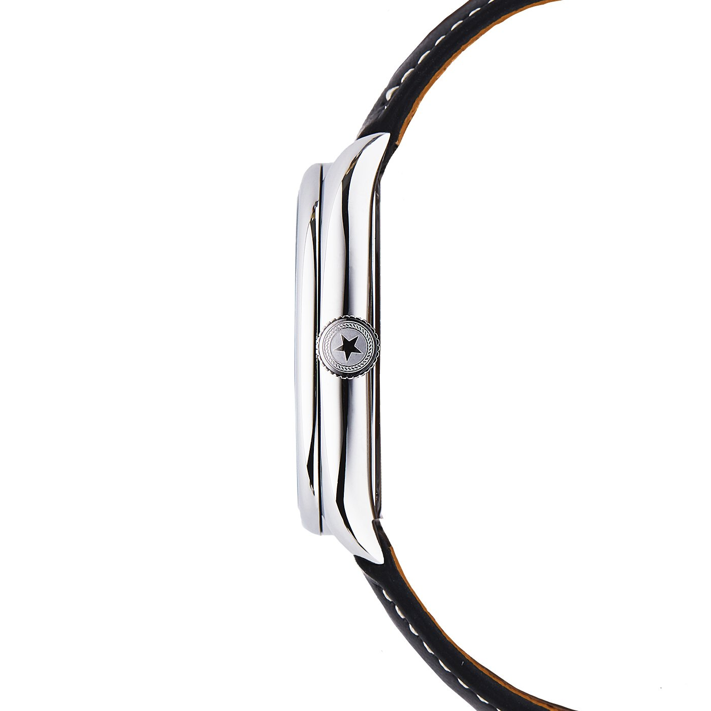 Jack Mason Women's Watch Issue No 1 SS Sub Second MOP Dial Black Leather Strap by Jack Mason (Image #2)