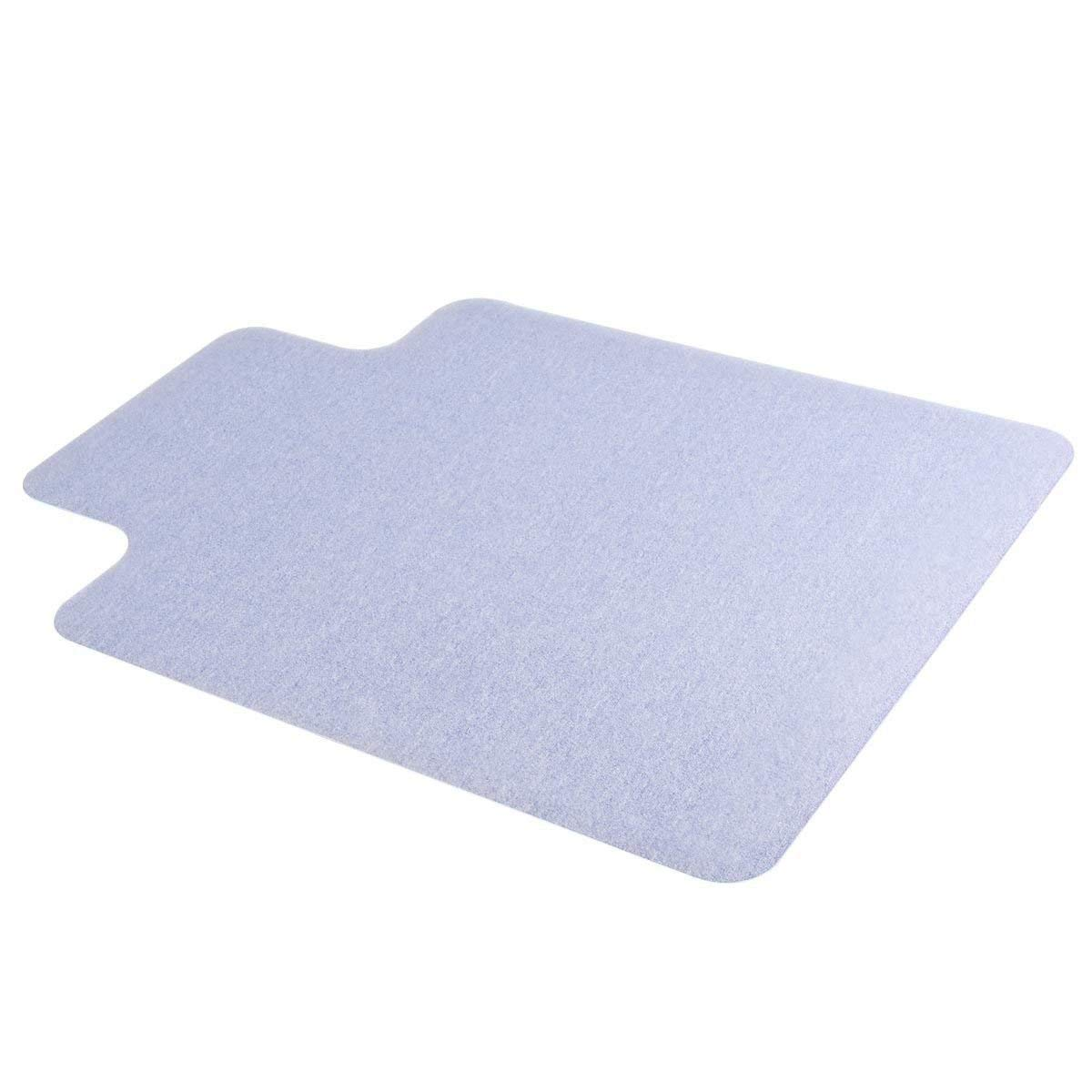 COSTWAY 48'' x 36'' Clear PVC Office Chair Mat for Hard Floor Tile Protection to 1.50mm Thick (48'' x 36'')